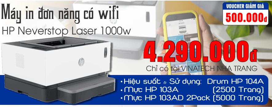 CTKM Tháng 01/2020: Nhận ngay Voucher giảm giá 500.000đ khi mua Máy In HP Neverstop Laser 1000w (4RY23A)