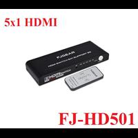 Bộ chuyển HDMI 5 vào 1 ra chính hãng FJGEAR FJ-HD501...