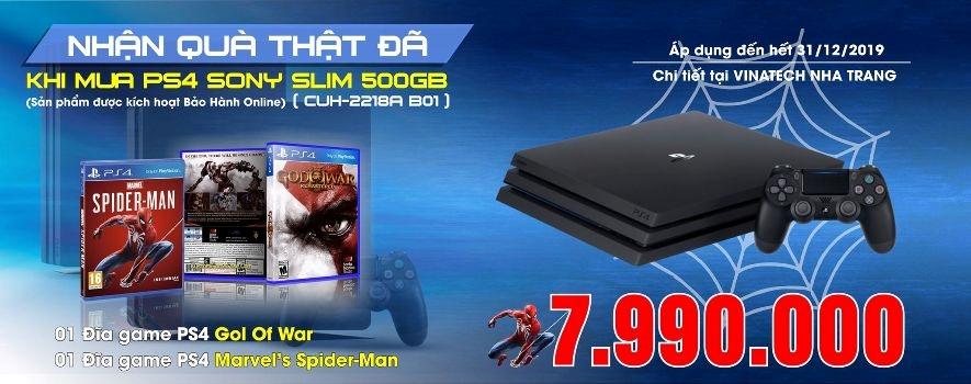 Nhận ngay bộ quà tặng khi mua máy PS4 Slim 500GB