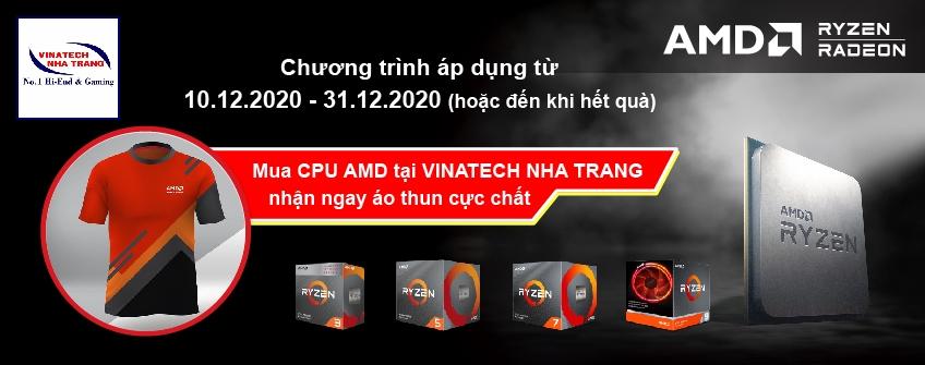 Tặng áo thun cực chất khi mua CPU AMD